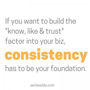 start being consistent