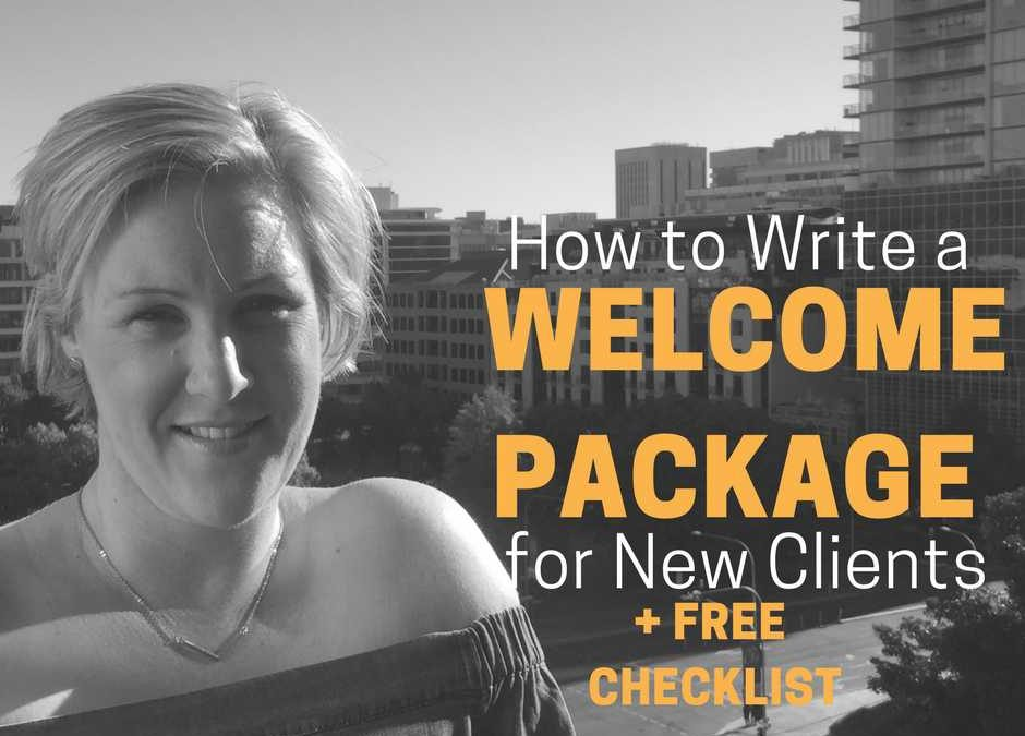 How to Write a Welcome Package
