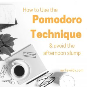 How to use the Pomodoro technique