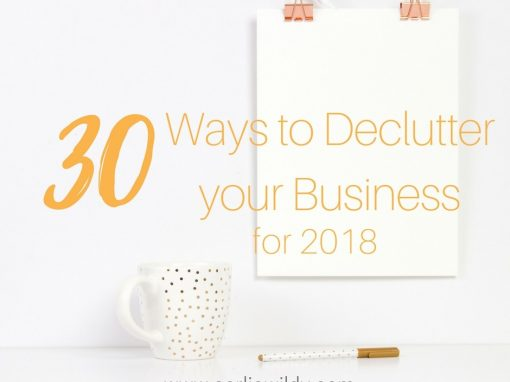 declutter your business for 2018